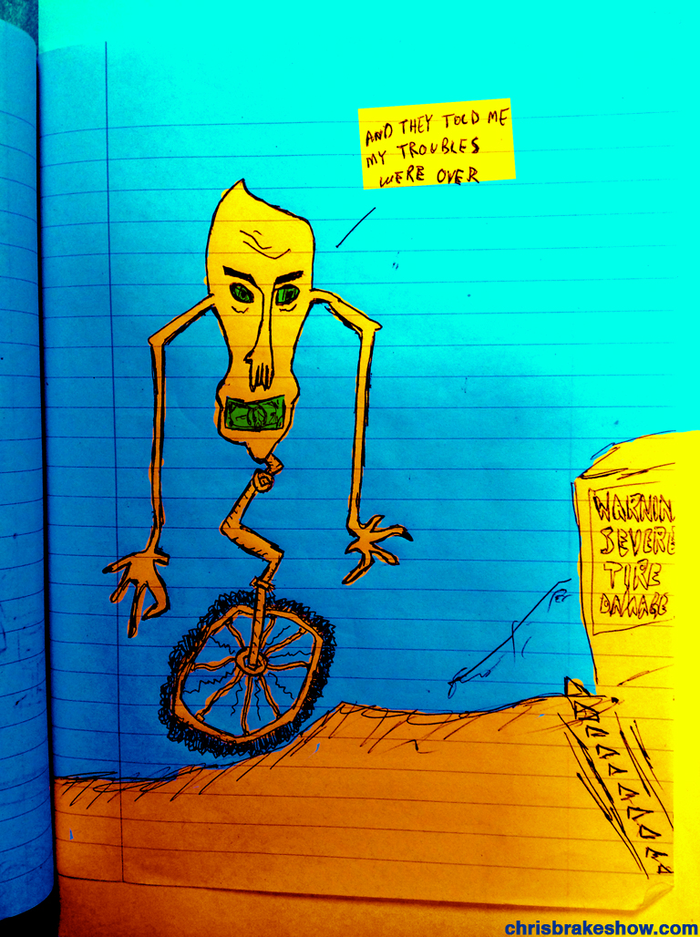 Downhill Troubles | Chris Brake Daily Doodle